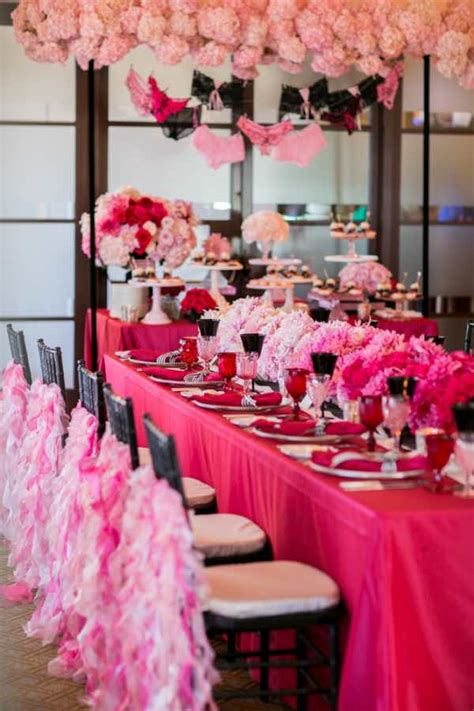 pink and black bridal shower decorations pink and black wedding decorations for the reception