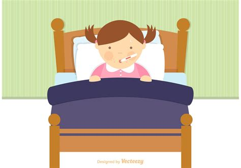 bed vector free sick child in bed vector download free vector art stock graphics images