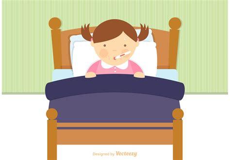 bed vector free sick child in bed vector download free vector art