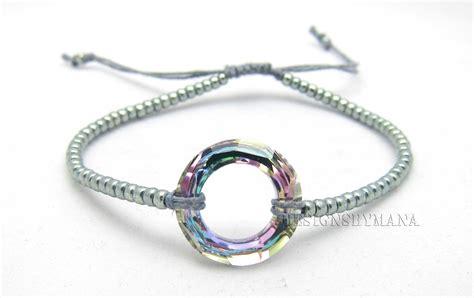 Beadfeast :home of handmade bead embroidered jewelry: Crystal Macrame Bracelet