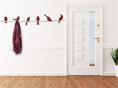 garderobe ausgefallen wandtattoo garderobe v 246 gel mit wandhaken wandtattoos de