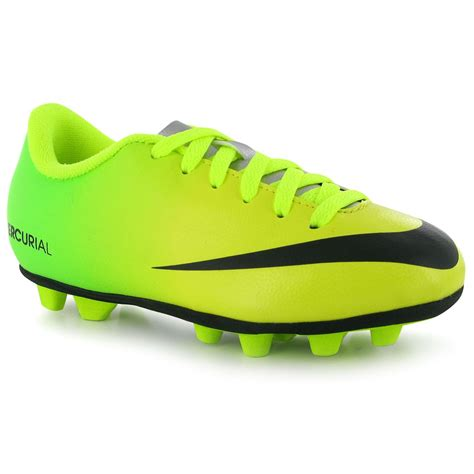 children football shoes nike mercurial vortex fg childrens football boots yellow