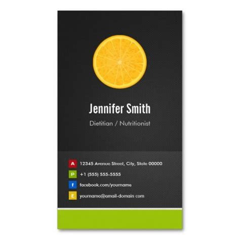 Diet Card Template by Dietitian Nutritionist Diet Creative Innovative