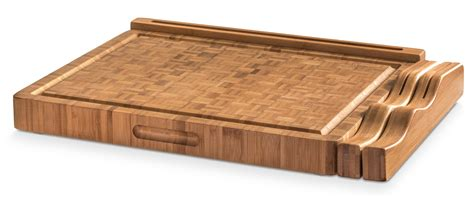 built in cutting board end grain bamboo cutting board workstation with juice trap