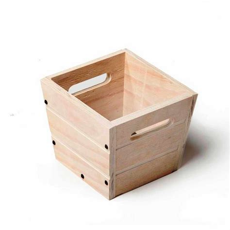 12 in square wood garden planter in white with handles