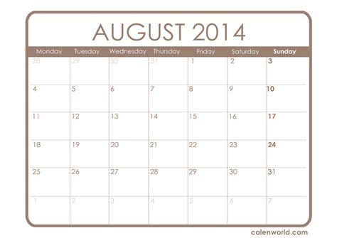 printable monthly calendar august 2014 august 2014 calendar printable calendars