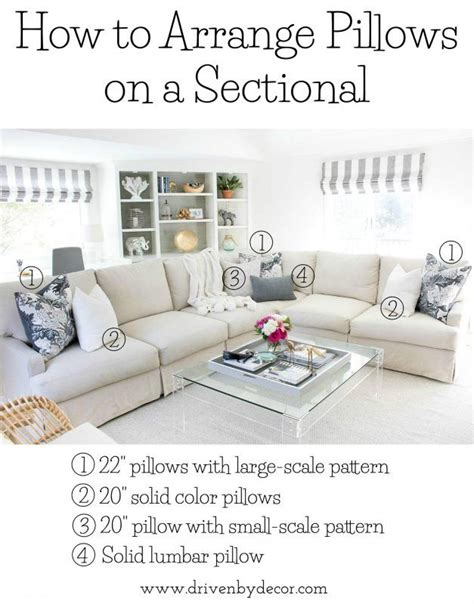 how to arrange pillows on a sofa 25 best ideas about sectional sofa layout on pinterest