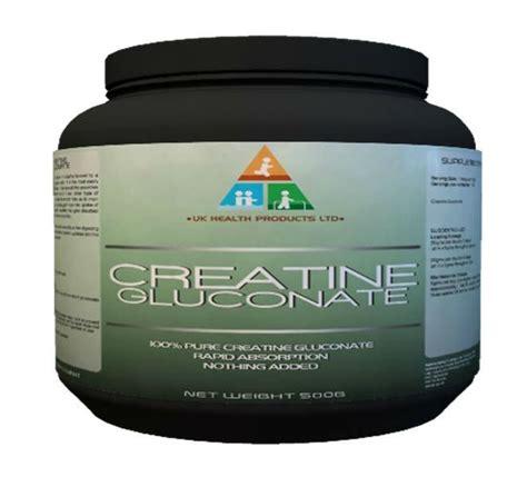creatine 5g scoop creatine gluconate powder 500g products united kingdom