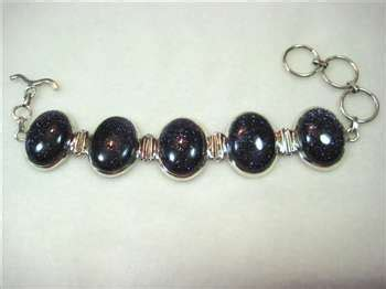 Carols Pearls Of Shopping Wisdom Has Sprung Second City Style Fashion by Blue Goldstone 925 Sterling Silver Bracelet By