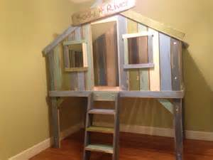Bunk Bed Tree House Treehouse Loft Bed By Wibbelerwoodworking On Etsy
