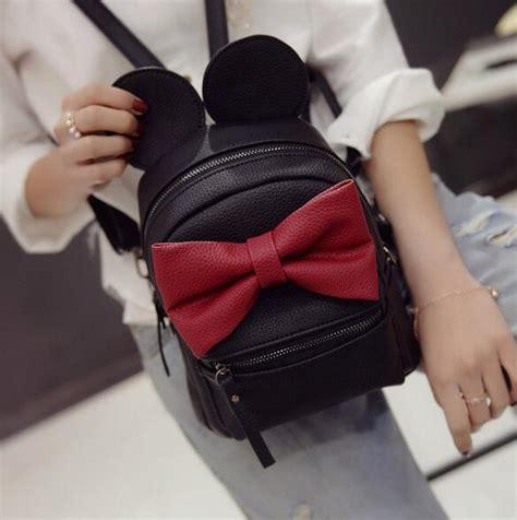 Tas Laptop Mickey Mouse tas ransel wanita model mickey mouse black