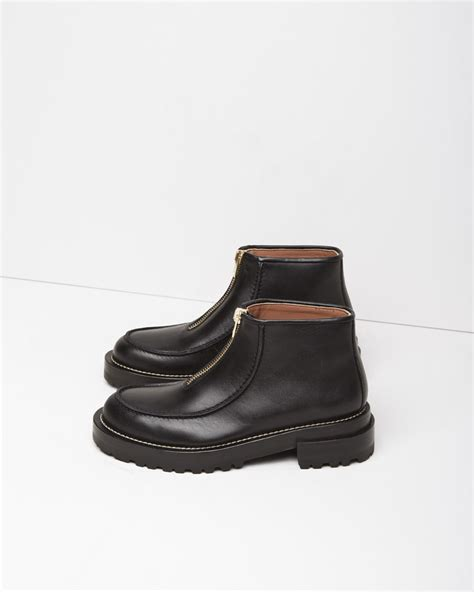 front zip ankle boots marni zip front leather ankle boots in black lyst
