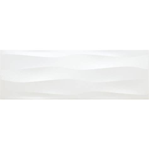 daltile finesse bright white 4 in x 16 in ceramic wavy wall tile 10 75 sq ft case
