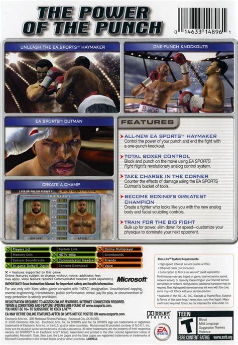 fight night round 2 cheats xbox fight night round 2 box shot for xbox gamefaqs
