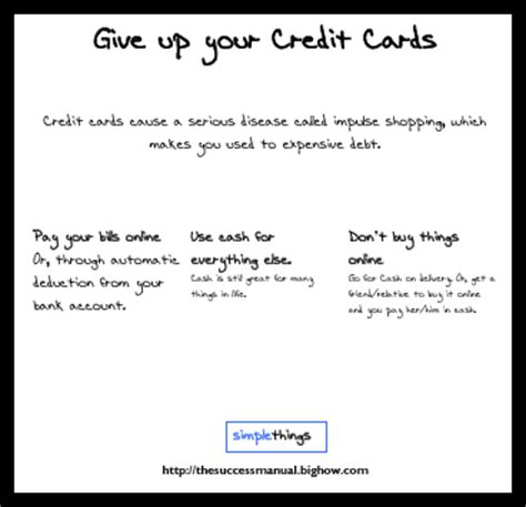 Can You Use A Mastercard Gift Card On Paypal - simple things 5 stop using credit cards text poster bighow news