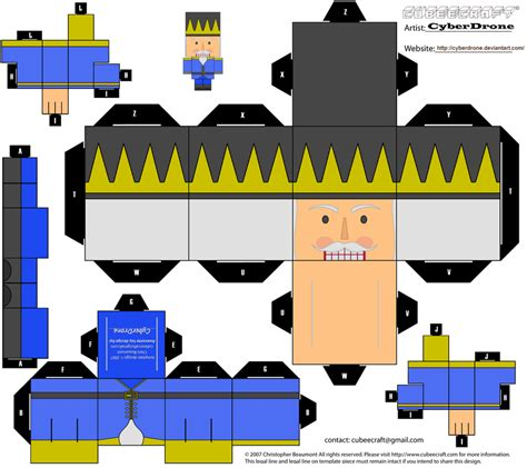 Cubee Papercraft - cubee nutcracker 1 by cyberdrone on deviantart