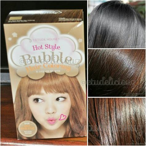 Etude Cat Rambut hair coloring etude house khaki brown review