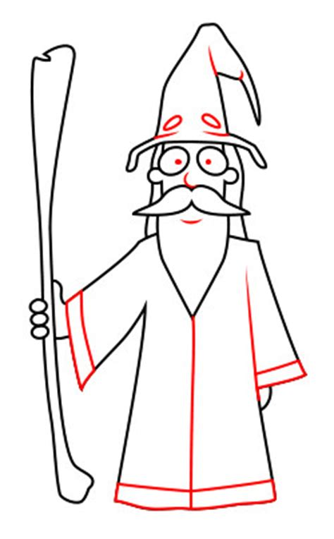 doodle how to make wizard drawing a wizard