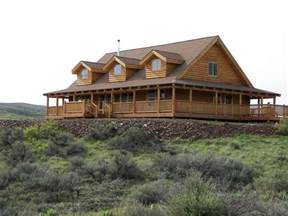 Log Homes With Wrap Around Porches Ranch Style With Wrap Around Porch Homes