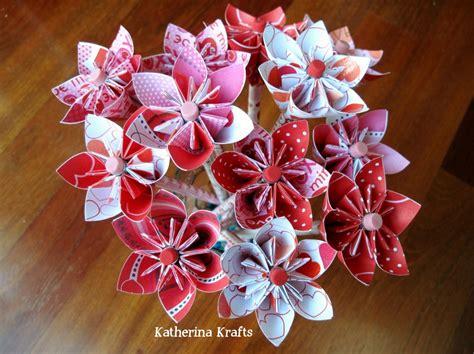 Origami Flower Arrangement - katherina krafts pencil origami flower favors