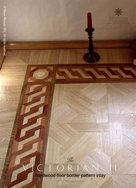 No.58: The Victorian II Hardwood Floor Border Inlay