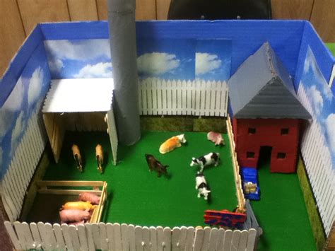 craft ideas for school projects diorama farm competition dioramas school