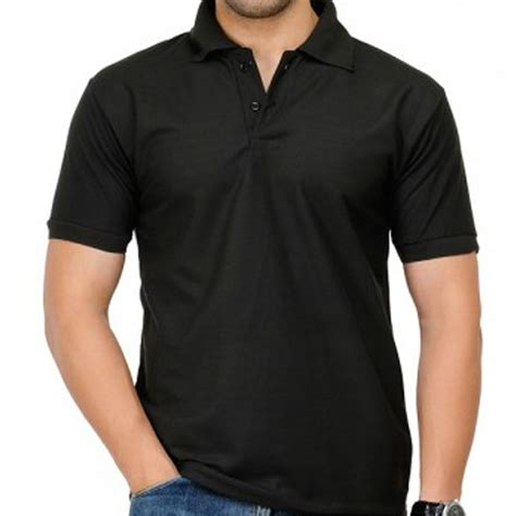 Size Xl Kaos Polos Hitam Cotton Combed 20s 53 Cm X 71 Cm new mens cotton plain polo shirt sleeve casual top t sport s m l xl ebay