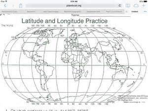 worksheet latitude and longitude practice worksheets