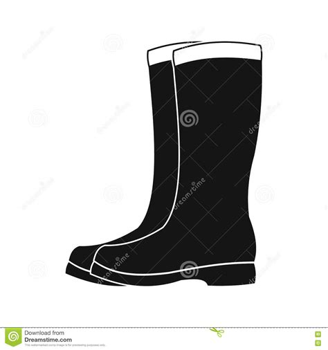 rubber boot icon rubber boots black simple icon cartoon vector