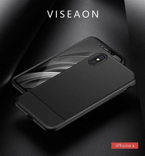 Ipaky Carbon Fiber Iphone X Softcase Shockproof Tpu bakeey ultra thin shockproof carbon fiber soft tpu