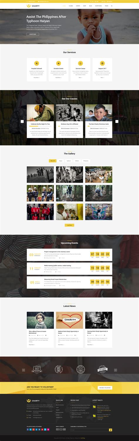 joomla template classy home charity nonprofit fundraising joomla template by