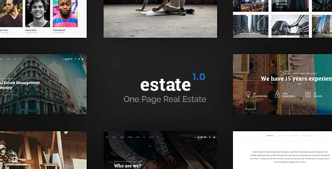 Estate One Page Real Estate Template By Nowww Themeforest One Page Real Estate Website Templates