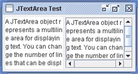 java swing text area using jtextarea jtextarea 171 swing 171 java tutorial