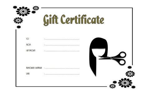 Free Printable Hair Salon Gift Certificate Template by Saloon Gift Certificate 8 The Best Template Collection