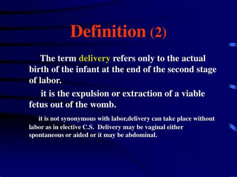 Description Of Labor And Delivery by Ppt Normal Labor And Delivery Powerpoint Presentation Id 475415