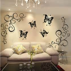 Butterfly home decor wall stickers personalized bathroom mirror poster