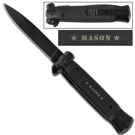 assisted knive stiletto style assisted knife masonic