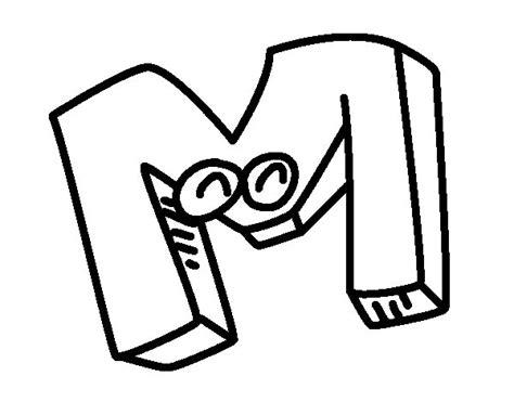 imagenes para colorear que empiecen con m dibujo de letra m para colorear dibujos net