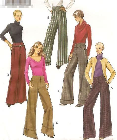 sewing pattern wide leg pants wide leg yoke waistband pants vogue sewing pattern