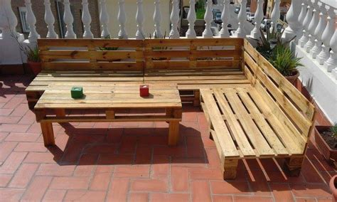 Skid Patio Furniture Build Pallet Outdoor Furniture Set