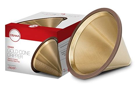Hl High Libido Coffee Gold osaka titanium coated gold pour cone dripper reusable stainless steel coffee filter for
