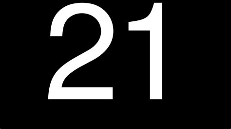 Or Number Images Of Numbers 21 Number 21 Numbers