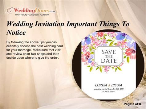 Wedding Invitation Notice by Wedding Invitation Important Things To Notice