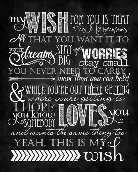 Pdf The Song My Wish For You by Chalkboard Song My Wish