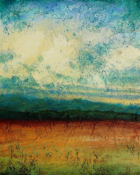 abstract landscape painting acrylic painting sky blue peaceful