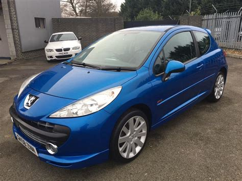 blue peugeot peugeot 207 sport xs150 1 6 3 door hatchback blue 2008