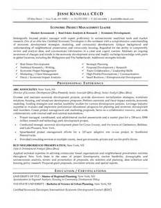 Economic Developer Sle Resume exle director of economic development resume free sle