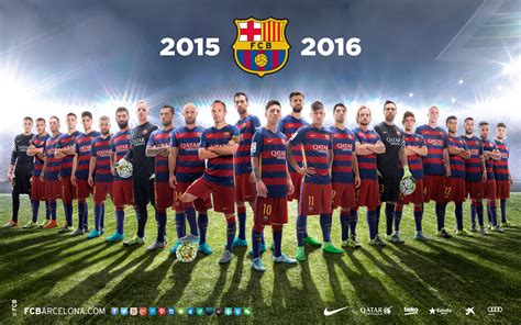 FC Barcelona Squad 2015 16 Football Team wallpapers