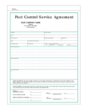 28+ [ simple pest control contract template ] | pest