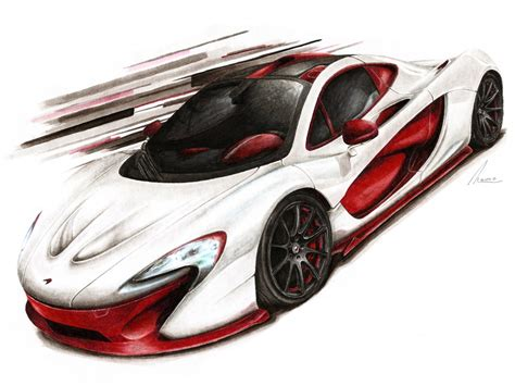 mclaren drawing mclaren p1 bespoke project 8 by medvezh on deviantart
